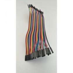 Lot de 20 câbles dupont M/F